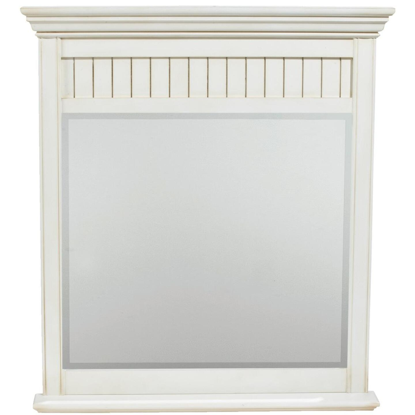 Sunny Wood Bristol Beach White 36 In. W. X 40 In. H. Vanity Mirror Image 1