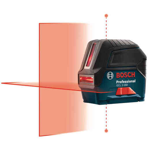 Bosch 165 Ft. Self-Leveling Cross-Line Laser Level with Plumb Points