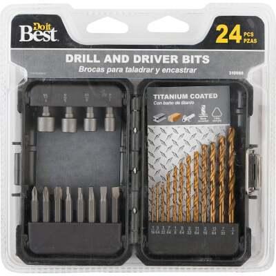 Do it Best 24-Piece Titanium Drill and Drive Set
