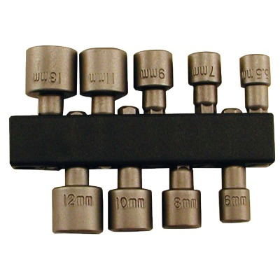 Best Way Tools 9-Piece 1/4 In. Drive Metric Nutdriver Bit Set