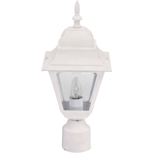 Home Impressions White Incandescent Post Light Fixture