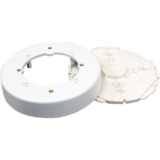 Wiremold White Round Fixture Box
