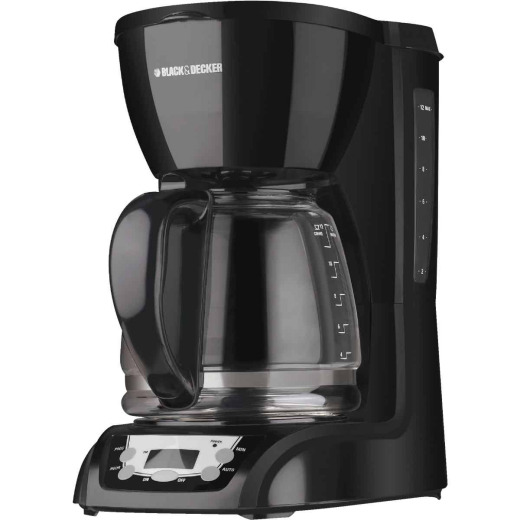 Black & Decker 12 Cup Programmable Black Coffee Maker