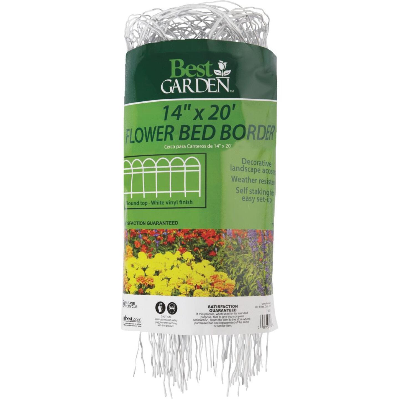 Best Garden 14 In. H x 20 Ft. L Galvanized Wire Decorative Border Fence Image 2