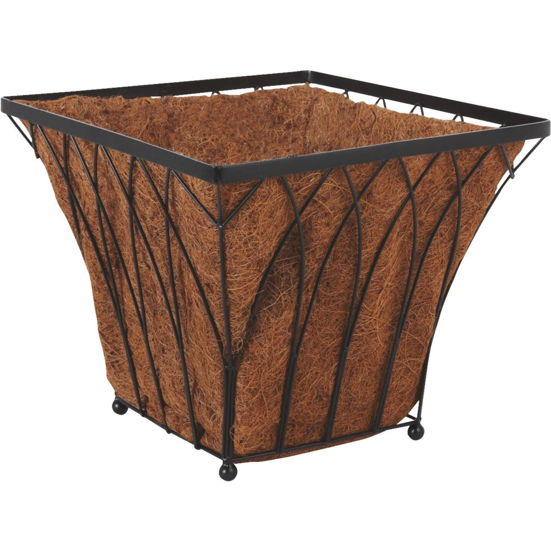 Best Garden 14 In. Steel Rod Black Planter Image 1