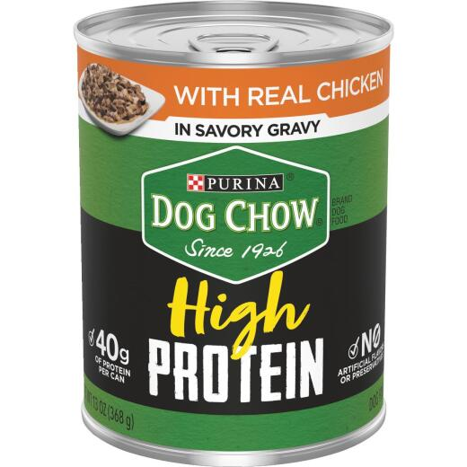 Purina Dog Chow Chicken Adult High Protein Wet Dog Food, 13 Oz.