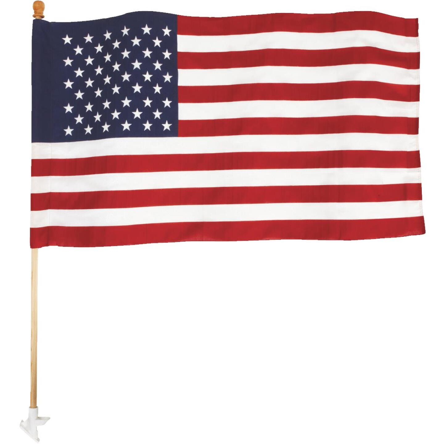 Valley Forge 2.5 Ft. x 4 Ft. Polycotton American Flag & 5 Ft. Pole Kit Image 3