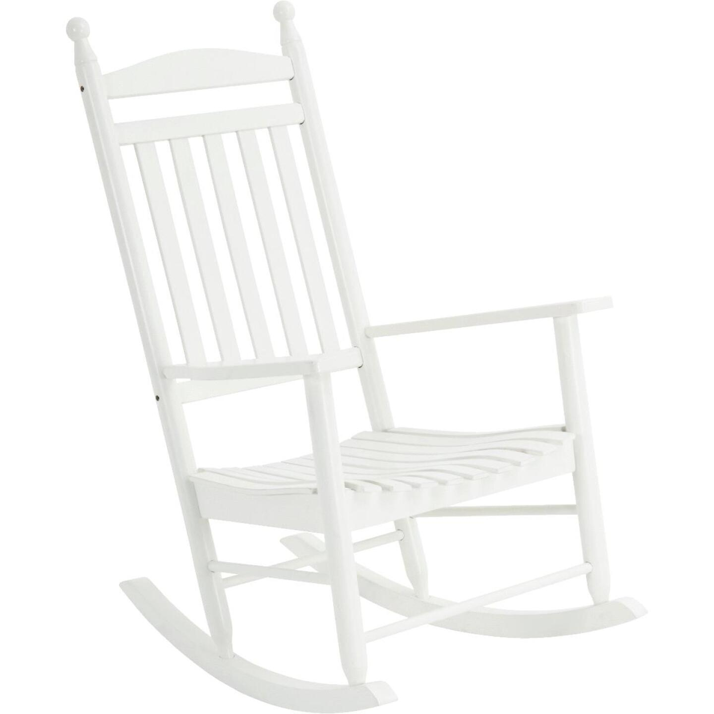 Knollwood White Wood Rocking Chair Image 1